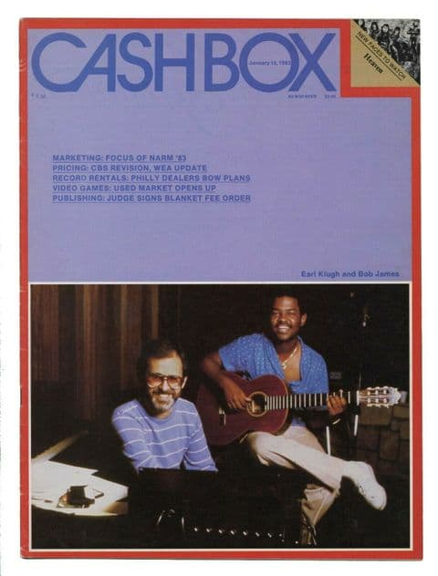 Cash Box music industry magazine January 15 1983 Earl klugh and Bob James